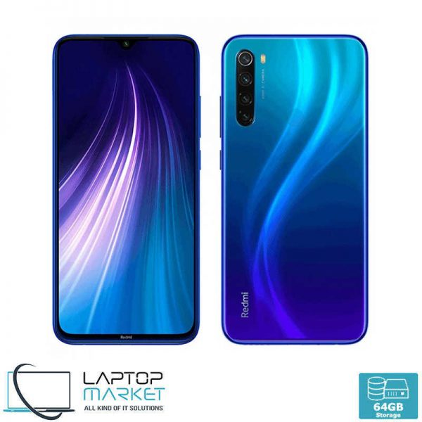 "Brand New Boxed Xiaomi Redmi 8T, Starscape Blue Smartphone, 6.3"" Full Screen Display, Octa-Core Processor, 4GB RAM, 64GB Storage, 48MP Quad Camera"