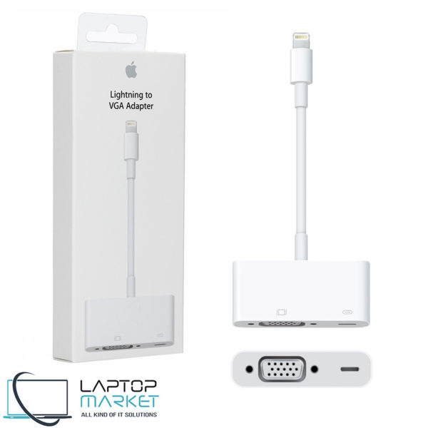 Brand New New Genuine Apple MD825ZM/A Lightning to VGA Adapter A1439 For iPhone iPad iPod