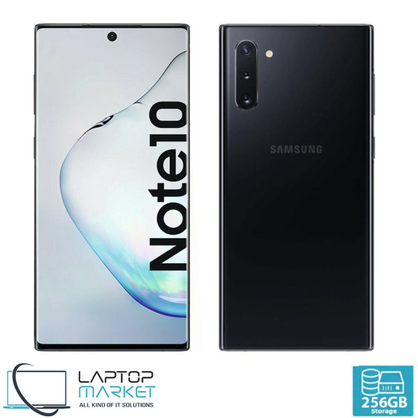 Brand New Sealed Samsung Galaxy Note10, Black Smartphone, Octa-Core Processor, 8GB RAM, 256GB Storage, 12MP Triple Camera