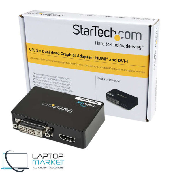 New StarTech USB 3.0 to HDMI and DVI Dual Monitor External Video Card Adapter