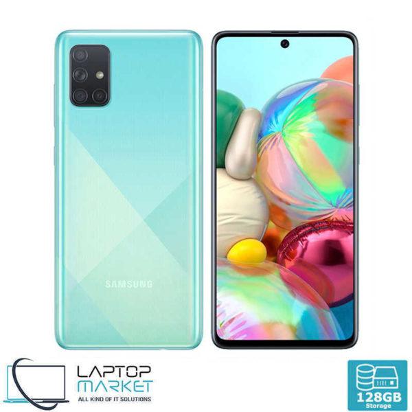 Samsung Galaxy A71 SM-A715F/DS, Prism Crush Blue Smartphone, Octa-Core Processor, 6GB RAM, 128GB Storage, Quad 64MP Camera