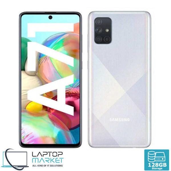 Brand New Boxed Samsung Galaxy A71 SM-A715F/DS, Prism Crush Silver Smartphone, Octa-Core Processor, 6GB RAM, 128GB Storage, Quad 64MP Camera