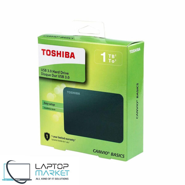 New External HDD Toshiba Canvio 1TB 1000GB Portable Hard Drive Disk DTB310