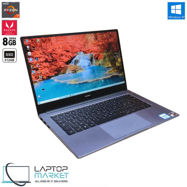 "Huawei MateBook D 14 NBL-WAP9R, 14"" Full HD Laptop, AMD Ryzen 7 Processor, 8GB RAM Memory, 512GB Solid State Drive"