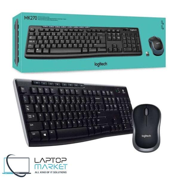 New Logitech MK270 Wireless Keyboard And Mouse Combo UK Layout