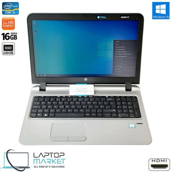 "HP ProBook 450 G3, 15.6"" HD Laptop, Intel® Core i5 Processor, 16GB RAM Memory, 240GB Solid State Drive"