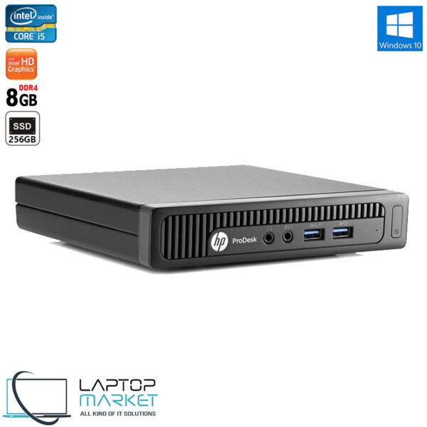 HP ProDesk 400 G2, Desktop Mini PC, 6th Gen Intel® Core i5 Processor, 8GB RAM Memory, 256GB Solid State Drive